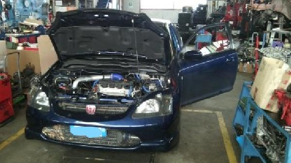 Auto honda, civic, turbo
